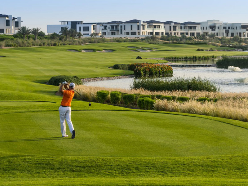 Dubai Hills Golf Course, Constructed by Desert Landscape