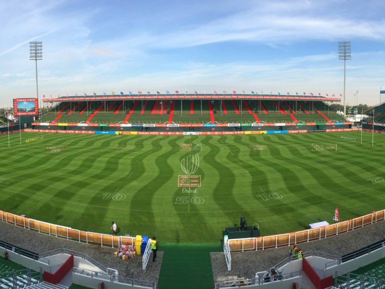 Dubai 7s Rugby Pitch, Constructed by Desert Turfcare