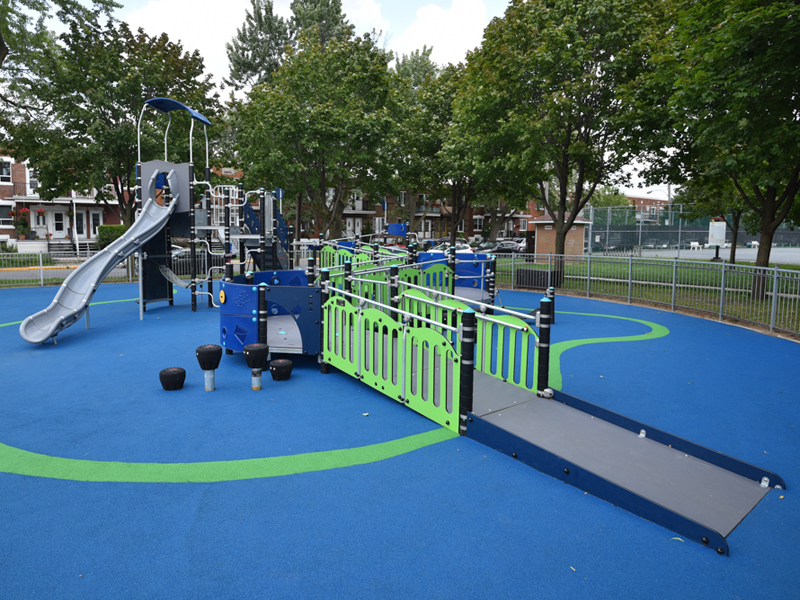 Special need kids play area and play equipments by Desert Turfcare General Trading
