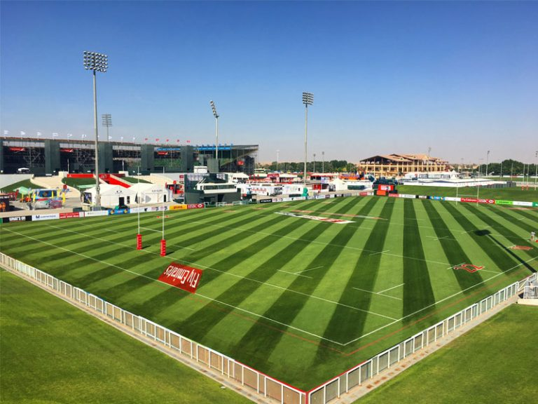 Emirates rugby club pitches maintenance by desert turfcare