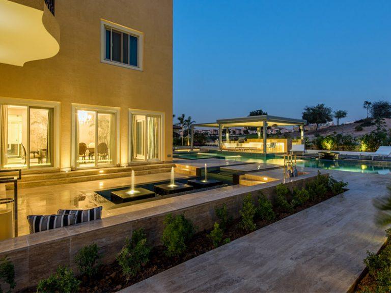 Mr. Modi villa swimming pools constructed by Desert Landscape