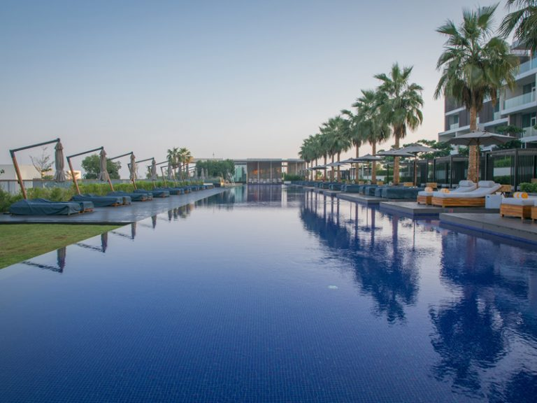 The oberoi beach resort al zorah swimming pools constructed by Desert Landscape